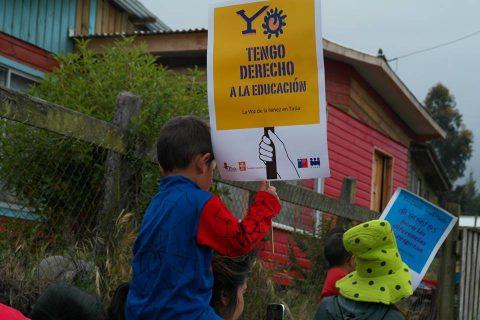 Carnaval por la infancia llenó de colores las calles de Tirúa